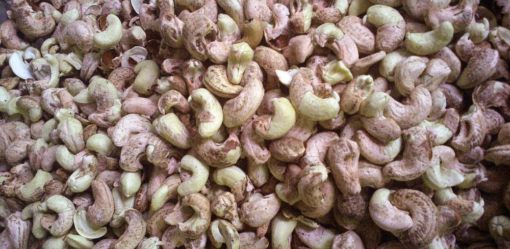 Cashews with skins