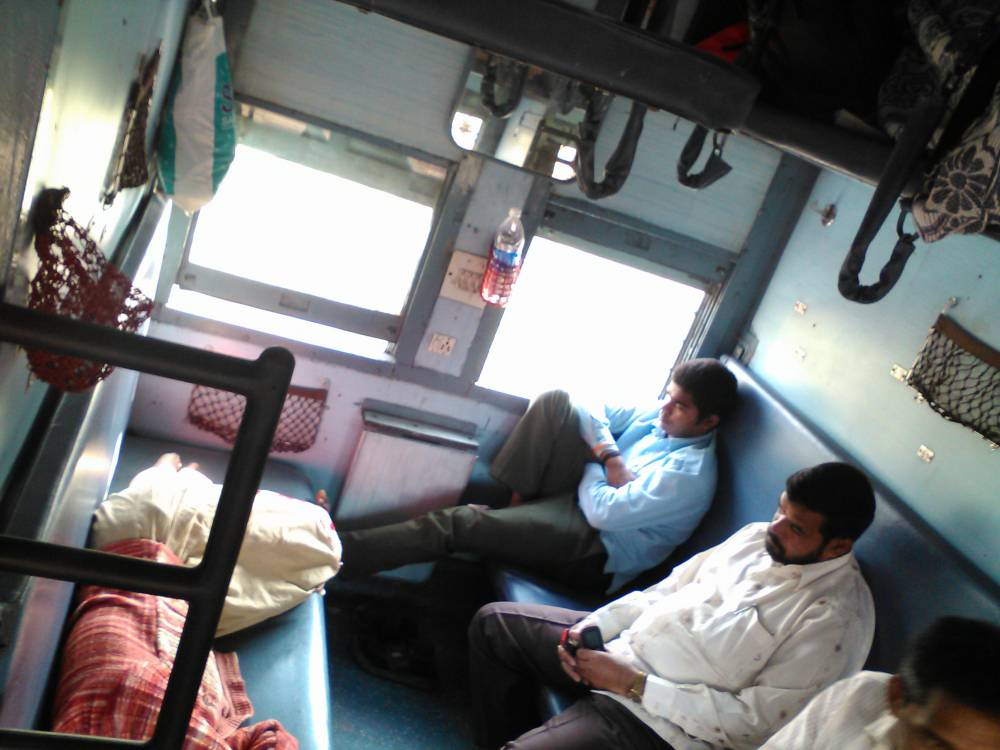 Sleeper class on the Mondovi Express