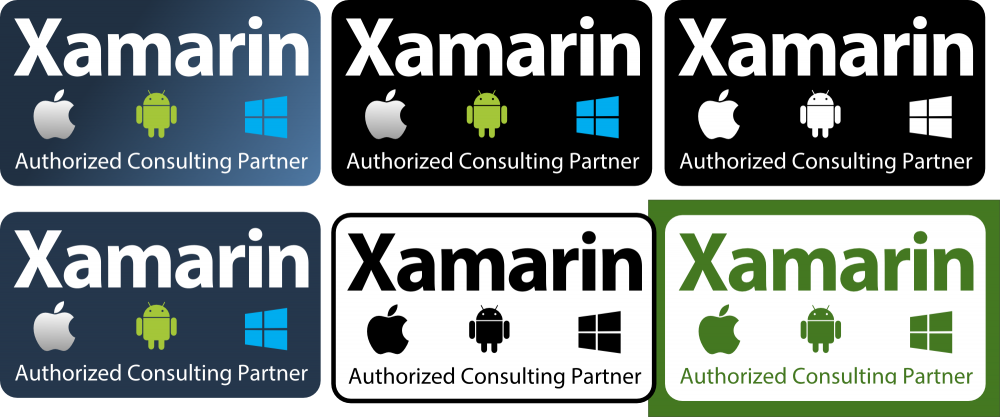 Xamarin Consulting Partner badges